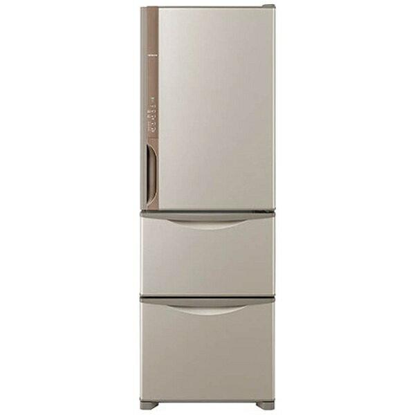 【標準設置費込み】 日立 3ドア冷蔵庫 (375L) R-K380HV-T ライトブラウン 「Kシリーズ」[RK380HV_T]