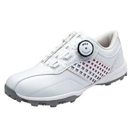 パーソンズ Persons 24.5cm レディース ゴルフシューズ(ホワイト×ピンク) PSG2016