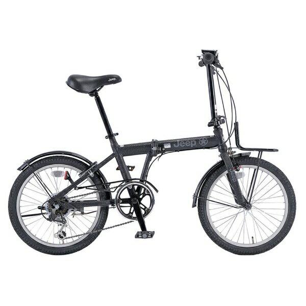 【送料無料】 ジープ 20型 折りたたみ自転車 JEEP JE-206G(ブラック/6段変速) 34873【2017年モデル】【組立商品につき返品不可】 【代金引換配送不可】