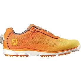 フットジョイ FootJoy 23.5cm/靴幅:3E レディース ゴルフシューズ emPOWER(オレンジ×イエローフェード ) #98008