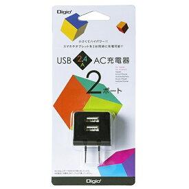ナカバヤシ Nakabayashi タブレット/スマートフォン対応[USB給電] AC - USB充電器 2.4A (2ポート・ブラック) JYU-ACU224BK[JYUACU224BK]