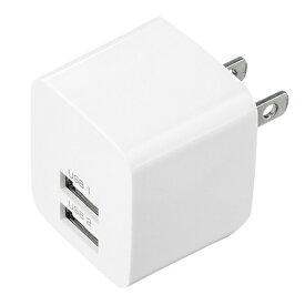 サンワサプライ SANWA SUPPLY スマホ用USB充電コンセントアダプタ 2.4A (2ポート) ACA-IP44W ホワイト