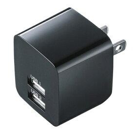 サンワサプライ SANWA SUPPLY スマホ用USB充電コンセントアダプタ 2.4A (2ポート) ACA-IP44BK ブラック