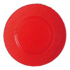 アルクインターナショナル Arc International ミネラリ カラーサービスプレート 32cm レッド J8270 <RMN2201>[RMN2201]