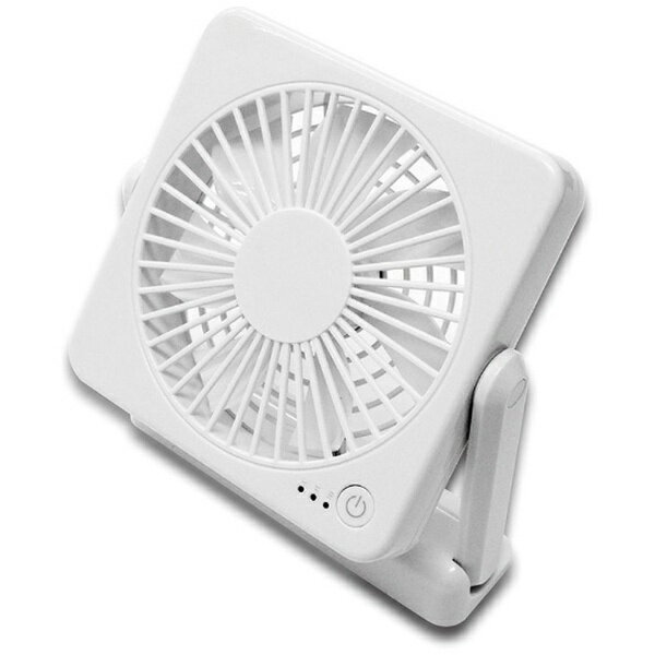 トップランド TOPLAND どこでもFAN コンパクトタイプ扇風機 SF-DF10 WT ホワイト[SFDF10]