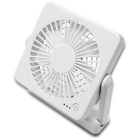 トップランド TOPLAND SF-DF10-WT 小型扇風機 どこでもFAN コンパクトタイプ ホワイト[SFDF10]