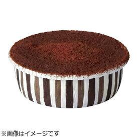 天満紙器 TEMMA SHIKI カールカップ(100枚入) ブラウンストライプ CR-25 <WCR0101>[WCR0101]