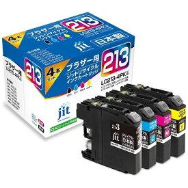 ジット JIT JIT-KB2134P ブラザー brother:LC213-4PK(4色パック)対応 ジット リサイクルインク カートリッジ JIT-KB2134P 4色セット[プリンターインク JITKB2134P]