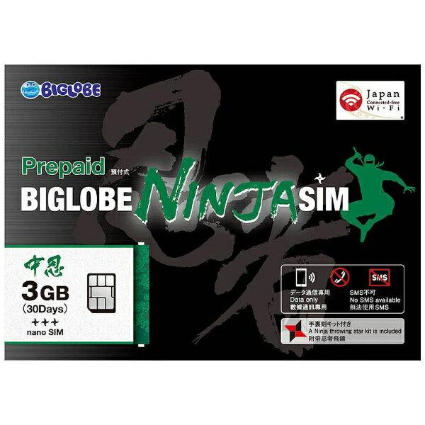 BIGLOBE ビッグローブ BIGLOBE NINJA SIM nanoSIM 3GB[NINJASIMNANOSIM3GB]