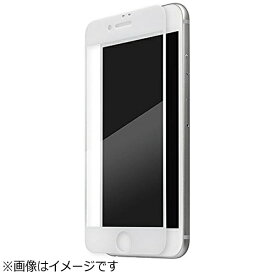 坂本ラヂヲ iPhone 7 Plus用 GRAMAS Protection Full Cover Glass ホワイト GL-136PWH