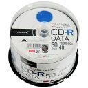 磁気研究所 【TYコードシリーズ】HIDISC CD-Rデータ用 48倍速 700MBホワイトワイドプリンタブルスピンドルケース 50枚 TYCR80YP50S...