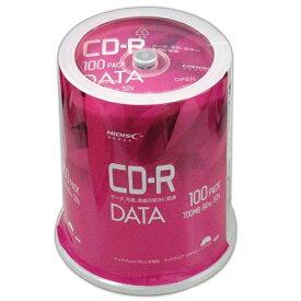 磁気研究所 Magnetic Laboratories VVDCR80GP100 データ用CD-R Hi-Disc ホワイト [100枚 /700MB /インクジェットプリンター対応]