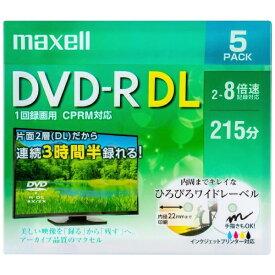 マクセル Maxell DRD215WPE5S 録画用DVD-R ホワイト [5枚 /8.5GB /インクジェットプリンター対応]