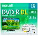 マクセル Maxell DRD215WPE10S 録画用DVD-R DL ホワイト [10枚 /8.5GB /インクジェットプリンター対応][DRD215WPE...