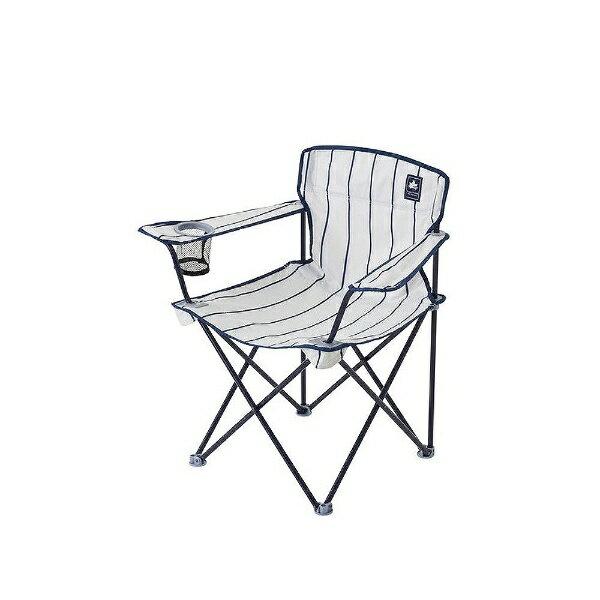 ロゴス 収束型ディレクターズチェア デザインアームチェア(ピンストライプ) 73174046