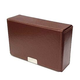 アクラス 合皮製スリムカードケース(ブラウン)