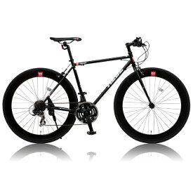 オオトモ OTOMO 700×25C型 クロスバイク CANOVER CAC-024 HEEB (ブラック/490サイズ《適応身長:160cm以上》) 25586【組立商品につき返品不可】 【代金引換配送不可】