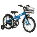 【送料無料】 ジープ 16型 幼児用自転車 JEEP JE-16G(ブルー/シングルシフト) 34120【2017年モデル】【組立商品につ…