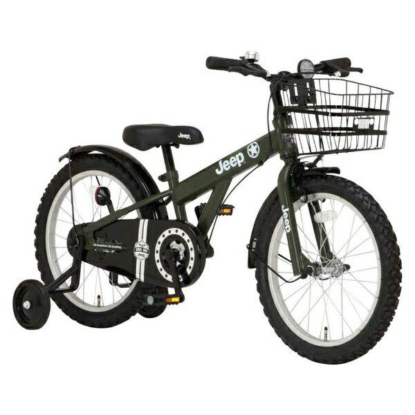 【送料無料】 ジープ 18型 幼児用自転車 JEEP JE-18G(オリーブ/シングルシフト) 34121【2017年モデル】【組立商品につき返品不可】 【代金引換配送不可】