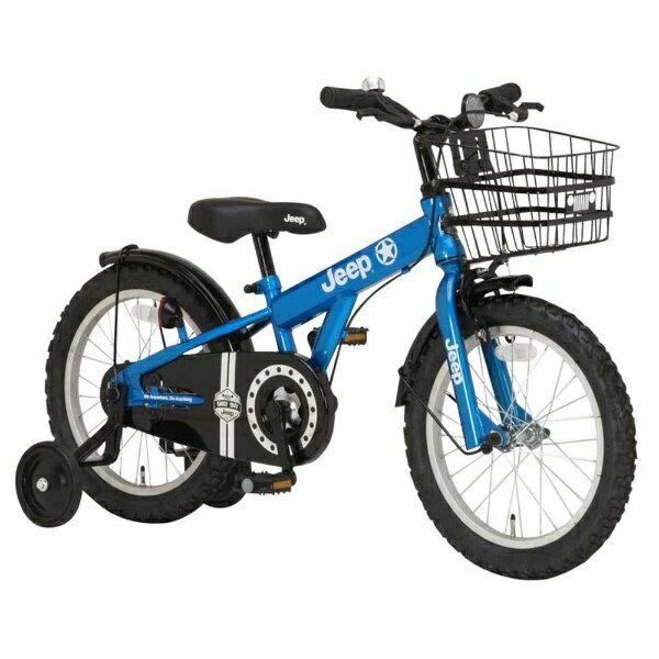 【送料無料】 ジープ 18型 幼児用自転車 JEEP JE-18G(ブルー/シングルシフト) 34123【2017年モデル】【組立商品につき返品不可】 【代金引換配送不可】