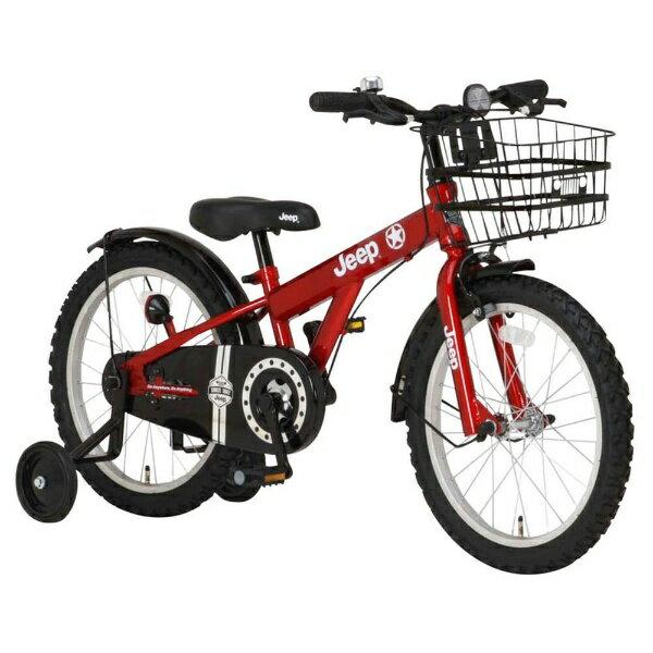 【送料無料】 ジープ 18型 幼児用自転車 JEEP JE-18G(レッド/シングルシフト) 34122【2017年モデル】【組立商品につき返品不可】 【代金引換配送不可】