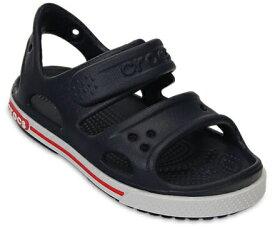 クロックス Crocs 13.0cm 子供用 サンダル Kids Crocband II Sandal(C5:Navy×White) 14854