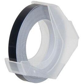 DYMO マシューズ・グロッシーテープ つやあり R&M ブラック RM906-B [白文字 /6mm幅]