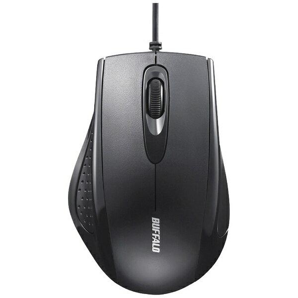 BUFFALO バッファロー 有線IR LED式マウス[USB 1.25m・Mac/Win](3ボタン・ブラック) BSMRU050BK[BSMRU050BK]