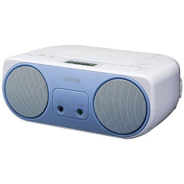 東芝 【ワイドFM対応】CDラジオ (ラジオ+CD)(ブルー)TY-C150L
