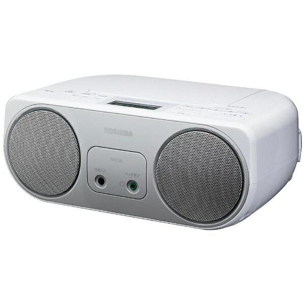 東芝 TOSHIBA 【ワイドFM対応】CDラジオ (ラジオ+CD)(シルバー) TY-C150S