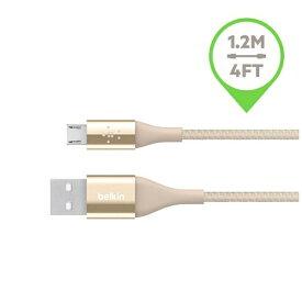 BELKIN ベルキン [micro USB]充電USBケーブル 2.4A (1.2m・ゴールド)F2CU051BT04-GLD [1.2m]