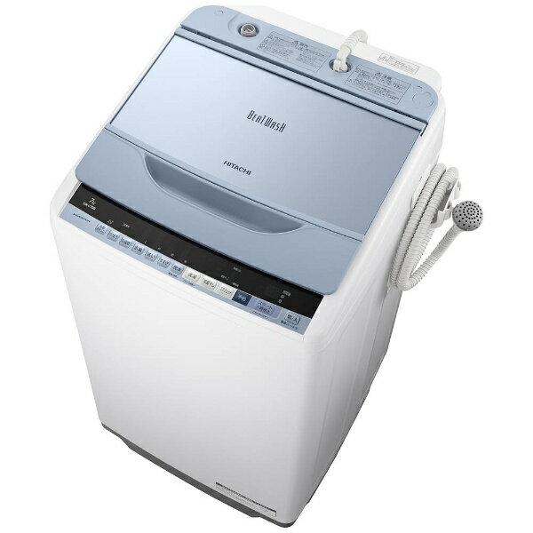 【標準設置費込み】 日立 全自動洗濯機 (洗濯7.0kg)「ビートウォッシュ」 BW-V70B-A ブルー[BWV70B_A]