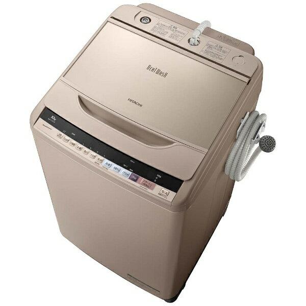 【標準設置費込み】 日立 HITACHI 【4時間限定 1500円クーポン 6/17 20:00〜 23:59】全自動洗濯機 (洗濯10.0kg)「ビートウォッシュ」 BW-V100B-N シャンパン[BWV100B_N]