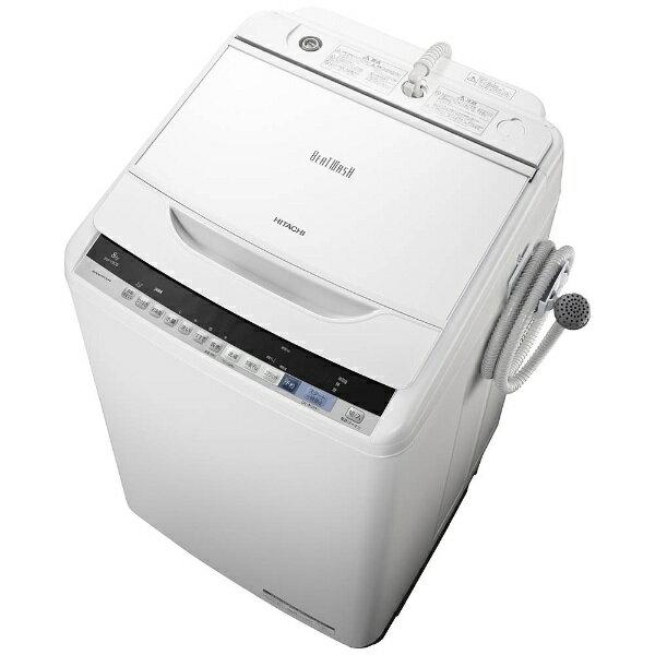 【標準設置費込み】 日立 全自動洗濯機 (洗濯8.0kg)「ビートウォッシュ」 BW-V80B-W ホワイト[BWV80B_W]