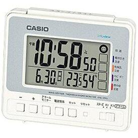 カシオ CASIO 目覚まし時計 【wave ceptor(ウェーブセプター)】 シルバー&ホワイト DQL250J8JF [デジタル /電波自動受信機能有]
