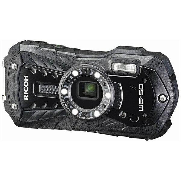 【送料無料】 リコー RICOH WG-50 コンパクトデジタルカメラ ブラック [防水+防塵+耐衝撃][WG50BK]