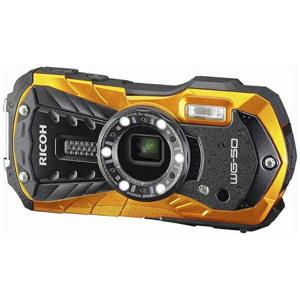 【送料無料】 リコー(ペンタックス) 防水コンパクトデジタルカメラ RICOH WG-50(オレンジ)[WG50OR]