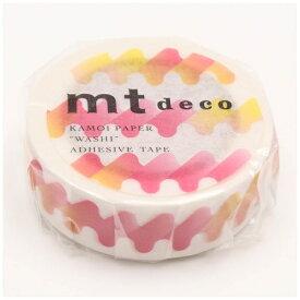 カモ井加工紙 KAMOI mtマスキングテープ 1Pゆらゆら(赤) MT01D410