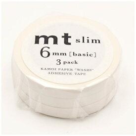 カモ井加工紙 KAMOI mtマスキングテープ slim K (マットホワイト) MTSLIM23