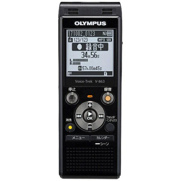 【送料無料】 オリンパス ICレコーダー(ブラック) Voice Trek V-863 BLK