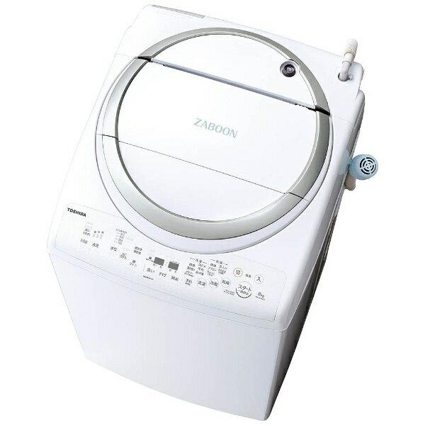 【標準設置費込み】 東芝 TOSHIBA 洗濯乾燥機 (洗濯8.0kg/乾燥4.5kg) AW-8V6-S メタリックシルバー 【洗濯槽自動お掃除・ヒーター乾燥機能付】