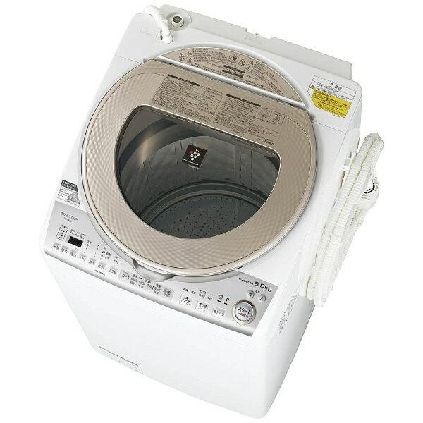 【標準設置費込み】 シャープ 洗濯乾燥機 (洗濯8.0kg/乾燥4.5kg) ES-TX8B-N ゴールド系 【洗濯槽自動お掃除・ヒーター乾燥機能付】