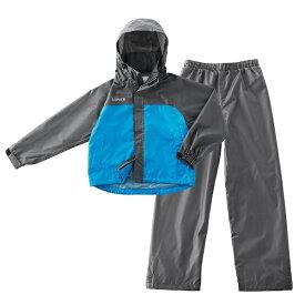 ロゴス LOGOS 子供用 レインウエア LIPNER 透湿ジュニアレインスーツ エールジュニア(125〜135cm/ブルー) 28656152