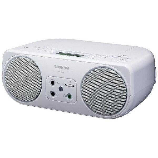 東芝 TOSHIBA TY-C200 CDラジオ ホワイト [ワイドFM対応][TYC200W]