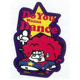 東洋マーク製作所 ステッカー Do you wanna dance R812