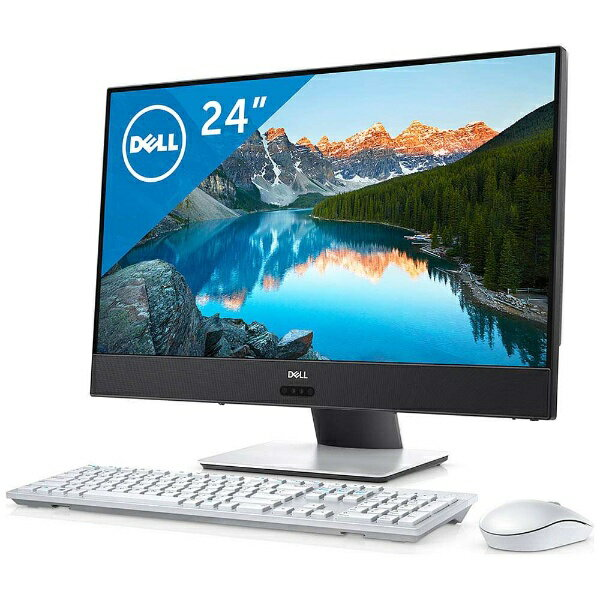 【送料無料】 DELL 23.8型デスクトップPC [Office付き・Win10 Home・AMD A10-9700E・HDD 1TB・メモリ 8GB] Inspiron 24 5000 5475 ホワイト FI47-7NHB(2017年夏モデル)[FI477NHB]