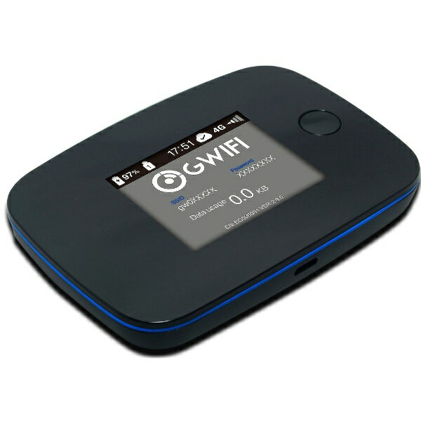 GWIFI 【国内海外対応】G WiFiルーター [G3000] LTE/Wi-Fi[無線b/g/n(2.4GHz)] 要契約 SIMフリーモバイルルーター[G3000]