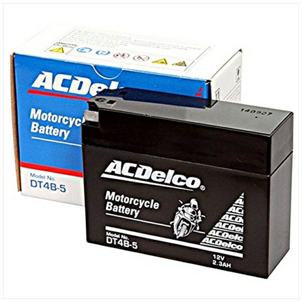 ACDELCO バイク用バッテリー 液入充電済ミ DT4B-5 【メーカー直送・代金引換不可・時間指定・返品不可】
