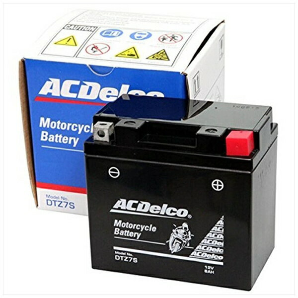 ACDELCO バイク用バッテリー 液入充電済ミ DTZ7S 【メーカー直送・代金引換不可・時間指定・返品不可】