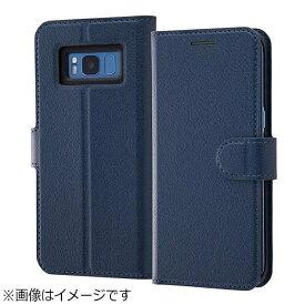 レイアウト rayout Galaxy S8用 手帳型ケース シンプル マグネット ダークネイビー RT-GS8ELC1/DN